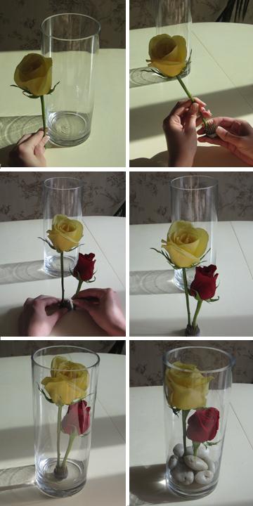 Diy submerged rose centerpiece socialife