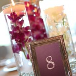 Rhinestone Table Number