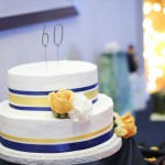 Yellow and Blue Birthday Cake