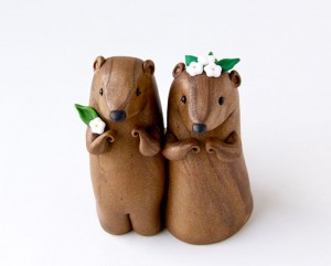 Groundhog Cake Topper via  Etsy