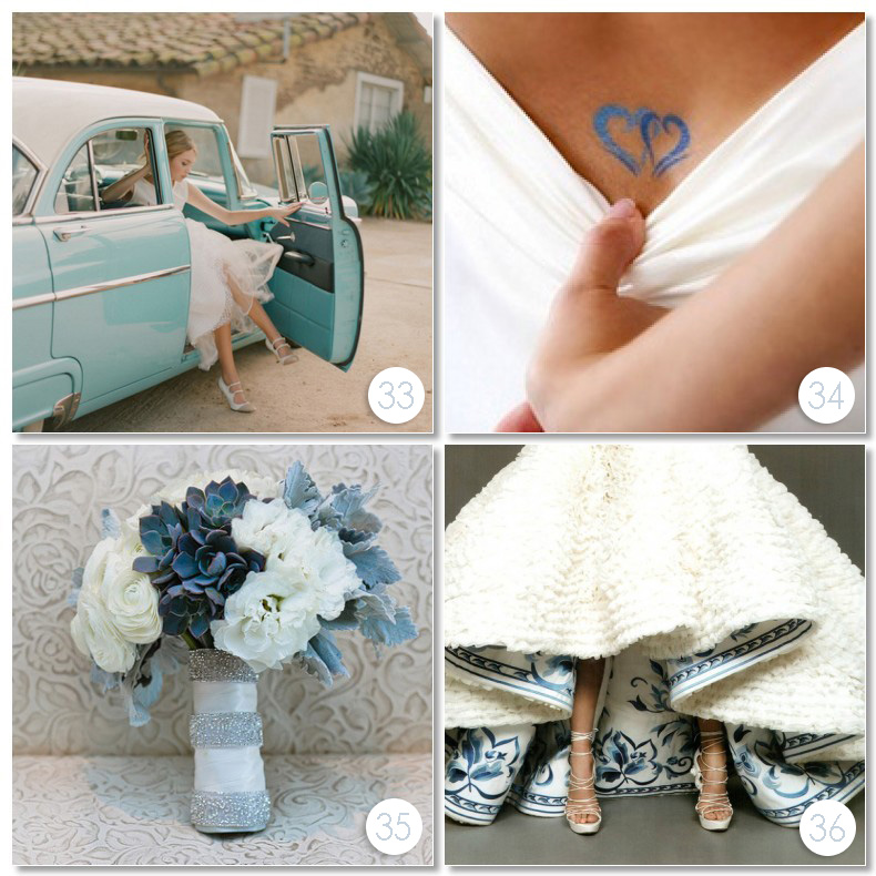 Something Borrowed Wedding Ideas: Something Blue Ideas