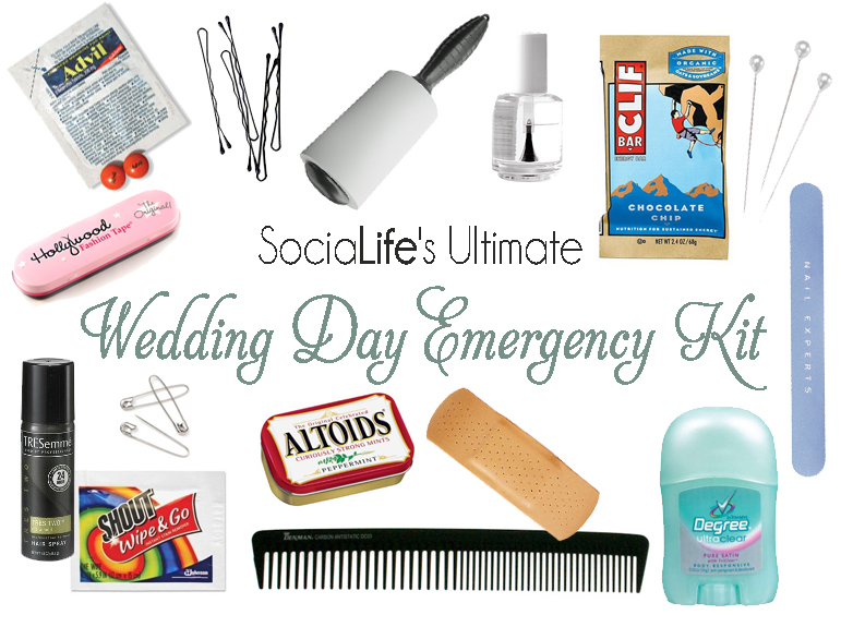 264665470040 What To Pack In Your Wedding Day Emergency Kit | SociaLife